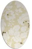 rug #629069   oval yellow damask rug