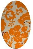 rug #629093   oval orange damask rug