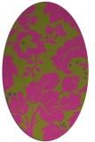 rug #629105 | oval light-green rug