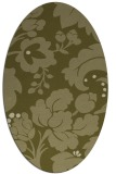 rug #629109 | oval light-green rug