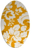 rug #629113 | oval light-orange damask rug