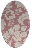 rug #629117   oval pink damask rug