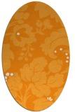 rug #629121 | oval light-orange damask rug