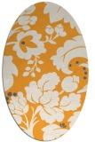 rug #629125 | oval light-orange rug
