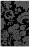 rug #629137 |  black damask rug