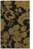 rug #629245    black damask rug