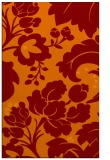 rug #629317 |  red-orange damask rug