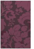 rug #629353 |  purple damask rug