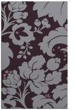 rug #629365 |  purple damask rug