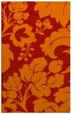 rug #629373    red damask rug