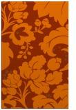 rug #629385 |  red-orange damask rug