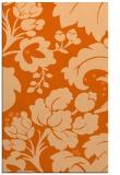 rug #629389 |  red-orange damask rug