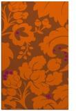 rug #629393    red-orange damask rug