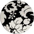 rug #629485   round white damask rug