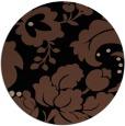 rug #629497 | round black damask rug