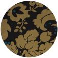 rug #629501 | round black damask rug