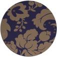 rug #629589 | round blue-violet rug