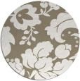 rug #629621   round white damask rug