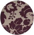 rug #629637 | round pink damask rug