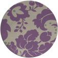 rug #629661 | round purple damask rug
