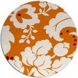 rug #629673 | round orange damask rug