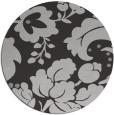 rug #629681 | round red-orange damask rug