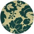 rug #629685 | round yellow damask rug