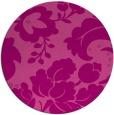 rug #629690 | round damask rug