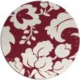rug #629693 | round pink damask rug