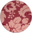 rug #629697   round pink damask rug
