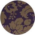 rug #629713   round purple damask rug
