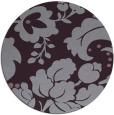 rug #629717 | round purple damask rug