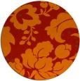 rug #629725 | round red damask rug