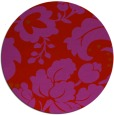 rug #629733 | round red damask rug