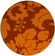 rug #629737 | round red-orange damask rug