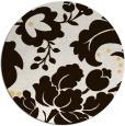 rug #629777 | round brown damask rug