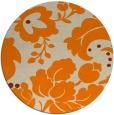 rug #629797 | round orange damask rug