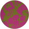 rug #629809 | round pink damask rug