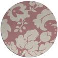rug #629821 | round pink damask rug