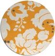rug #629829 | round light-orange damask rug