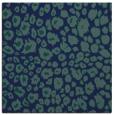 rug #630217 | square blue circles rug