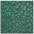 rug #630241   square blue-green animal rug