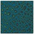 rug #630265 | square blue-green rug
