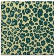 rug #630389 | square yellow animal rug