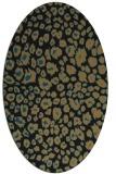 rug #630557 | oval brown circles rug
