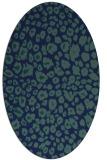 rug #630569 | oval blue animal rug
