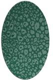 rug #630593 | oval blue-green circles rug