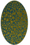 rug #630597 | oval blue-green circles rug