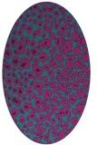 rug #630601 | oval pink animal rug