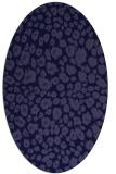 rug #630621 | oval blue-violet animal rug
